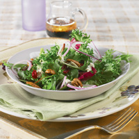 Mixed Greens with Cranberry Balsamic Vinaigrette