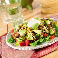 Low-Carb Taco Salad Supreme