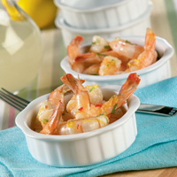 Lemoned Shrimp with Basil