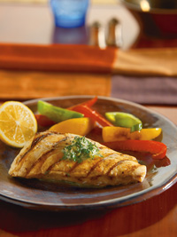 Grilled Fish with Buttery Lemon Parsley