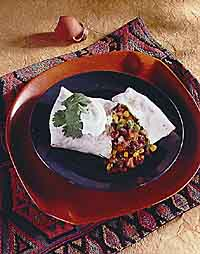 Bean and Vegetable Burrito