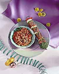 Pepper-Spiced Beef Skewer and Beans