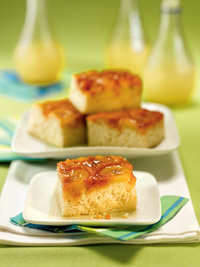 Enlightened Banana Upside-Down Cake