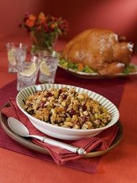 Cornbread, Sausage, Wild Rice and Cranberry Stuffing