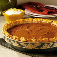 Pumpkin-Sweet Potato Pie with Savory Whipped Cream