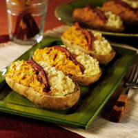 Two-Toned Stuffed Potatoes
