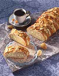 Cheese-Filled Almond Braid