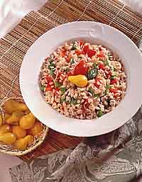 Baked Spanish Rice and Barley