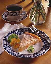 Polenta Apricot Pudding Cake