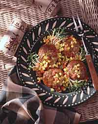 Beef Burgers with Corn Salsa