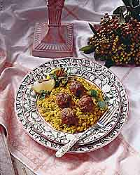 Mediterranean Meatballs and Couscous