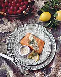 Salmon with Dill-Mustard Sauce