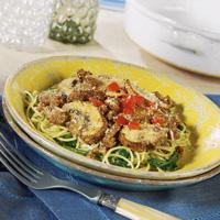 Portobello Pesto Pasta Casserole