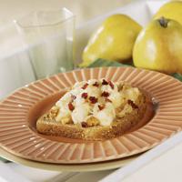 Open-Face Pear and Walnut Breakfast Sandwich