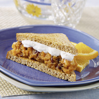 Sweet Potato Spread Sandwich