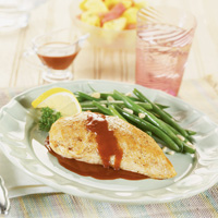 Chicken with Piquant Raspberry Sauce