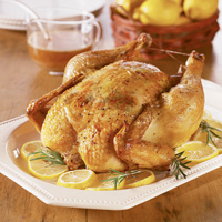 Lemon-Rosemary Roasted Chicken