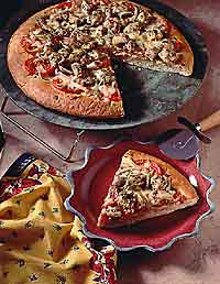 Chicken-Pesto Pizza