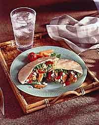 Stir-Fry Pita Sandwich