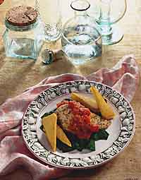 Tuscan Chicken Breast with Polenta