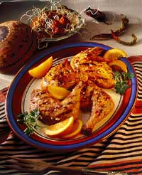 Barbecued Chicken with Chili-Orange Glaze