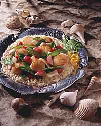 Stir-Fried Scallops with Vegetables