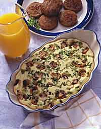Mushroom & Onion Egg Bake with Country Breakfast Sausage