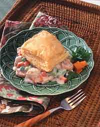 Creamy Chicken & Vegetables with Puff Pastry
