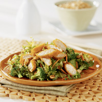 Ginger-Teriyaki Salad with Fried Chicken Tenders