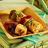 Chili-Rubbed Grilled Vegetable Kabob