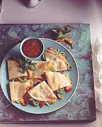 Cheesy Pepper & Onion Quesadillas