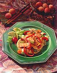Fried Noodle and Pork Stir-Fry