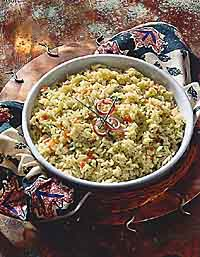 Broccoli-Cheese Pilaf