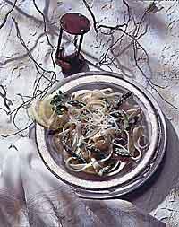 Fresh Asparagus Fettuccine Parmesan