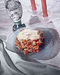 Triple Pepper Tomato Provolone Lasagna
