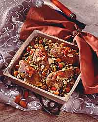 Indian-Spiced Chicken with Wild Rice