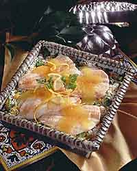 Flounder Fillets over Zesty Lemon Rice
