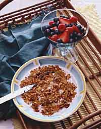 Date-Nut Granola with Summer Berries