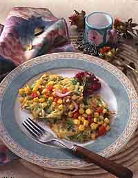 Potato-Zucchini Pancakes with Warm Corn Salsa