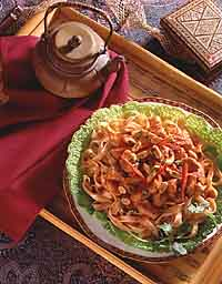 Thai Chicken Fettuccine Salad