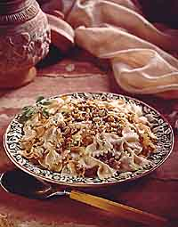 Pasta with Onions and Goat Cheese