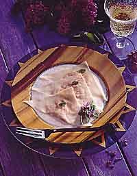 Sweet Potato Ravioli with Asiago Cheese Sauce