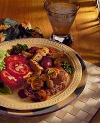 Salisbury Steak with Mushroom-Wine Sauce