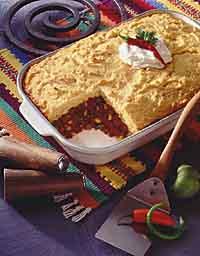 Beef Mole Tamale Pie