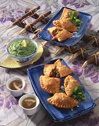 Meat-Filled Samosas