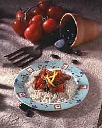 Saucy Tomato-Pork Skillet