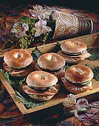 Smoked Chicken Bagel Snacks