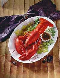 Boiled Whole Lobster with Burned Butter Sauce