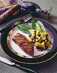 Vietnamese Loin Steak with Black Bean Relish