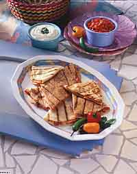 Turkey Ham Quesadillas